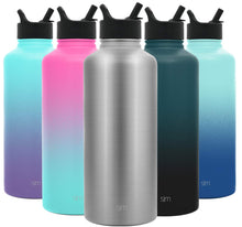 Load image into Gallery viewer, Simple Modern 84 oz Summit Water Bottle with Straw Lid - Hydro Vacuum Insulated Flask Double Wall Half Gallon Chug Jug - 18/8 Stainless Steel -Simple Stainless