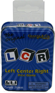 LCR Left Center Right Dice Game - Blue Tin (2)