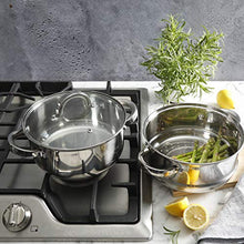 Load image into Gallery viewer, Oster Sangerfield Steamer Set with Lid for Stovetop Use, Stainless Steel, 1