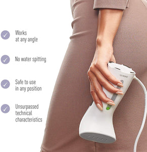 Handheld Iron Steamer for Clothes Garment Travel Size Powerful Portable Compact Mini Small Steam Iron for Travel & Home Wrinkles Remover Professional Hand Clothing Iron Steamer for Any Fabrics 110V