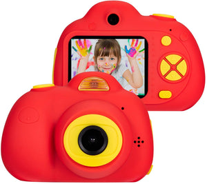 omzer Digital Camera for Kids, 1080P HD Video Camera Mini Child Camcorder with 2 Inch LCD Screen Best 8MP Creative Gifts for 3-7 Year Old Boys Girls, Red(16GB Memory Card Included)
