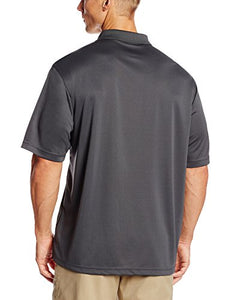 PGA TOUR Men's Airflux Short Sleeve Solid Polo-Shirts, Asphalt, S P000292149 Small