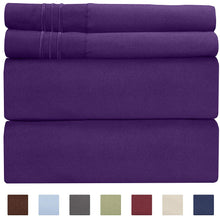 Load image into Gallery viewer, CGK Unlimited Split King Size Sheet Set – 5 Piece Set - Hotel Luxury Bed Sheets - Extra Soft - Deep Pockets - Breathable & Cooling - Wrinkle Free - Comfy – Purple Plum Bed Sheets - Split Kings 5 PC