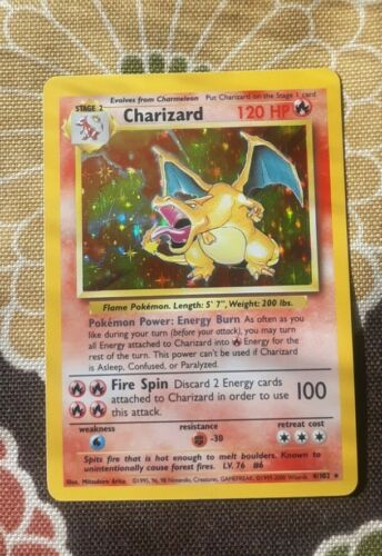 Charizard 4/102 Base Unlimited Lp-nm, amazing condition!!! Super rare hard find!