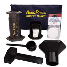 Load image into Gallery viewer, AeroPress Coffee and Espresso Maker with Tote Bag and 350 Additional Filters - Quickly Makes Delicious Coffee Without Bitterness - 1 to 3 Cups Per Press 82R08B Transparent