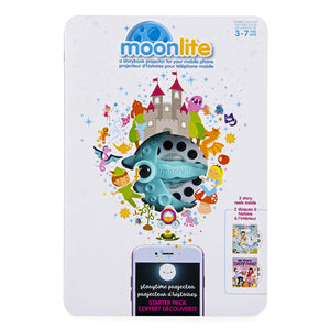Moonlite - Robert Munsch Intermediate Starter Pack, Storybook Projector for Smartphones with 2 Story Reels, For Ages 3 and Up