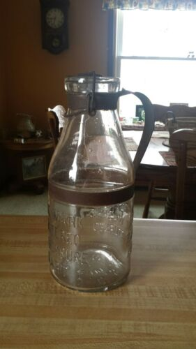 Vintage A. G. Smalley Co Glass Milk Bottle Rare Find 1800s Quart Size