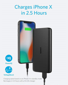 Anker PowerCore Lite 10000mAh, USB-C Input (Only), High Capacity Portable Charger, Slim and Light External Battery for iPhone, Samsung Galaxy, and More