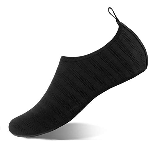 WateLves Water Shoes for Womens and Mens Summer Barefoot Shoes Quick Dry Aqua Socks for Beach Swim Yoga Exercise (LXY.Black, 34/35) YIDE Socks-LXY-Black-34/35 3.5-4 A-lxy.black