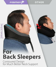 Load image into Gallery viewer, U-Shaped Memory Foam Rebound Travel Pillow Neck Support Head Rest Airplane Sleep
