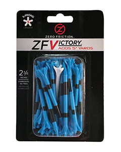 Zero Friction Victory 5-Prong Golf Tees (2-3/4 Inch, Blue, Pack of 40) ZV10000 2 3/4