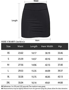 BLEVONH Casual Skirts for Women,Petite Athletic Skorts Ladies Fashion High...