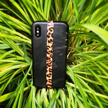 Load image into Gallery viewer, Phone Grip Finger Strap Accessory for Mobile Cell Phone, by Phone Loops (Leopard)
