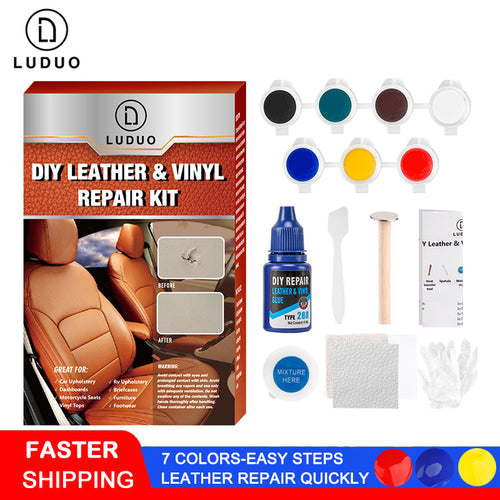 LUDUO Liquid Leather Vinyl Repair Kit Restorer Furniture Car Seats Sofa Jacket Purse Belt Shoes Cleaner Skin Repair Refurbish