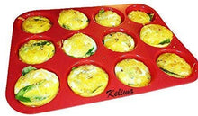 Load image into Gallery viewer, keliwa's 12 - Cup Silicone Muffin - Cupcake Baking Pan/Non - Stick Silicone Mold/Dishwasher - Microwave Safe