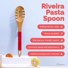 Load image into Gallery viewer, Riveira Spaghetti Spoon Cute Fork Cooking Gift Nonstick 13-Inch Kitchen Utensil Pasta Spoon with Premium Quality Silicone Handle for Everyday Use