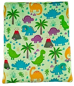 "Cheryl Ann's Pets Pet Snuggle Sack - 10"" x 11"" - Anti-Pill Fleece Lined - Burrow Bag - 3 Layers Thick - Reversible - Machine Wash - Dinosaur - Made in USA"