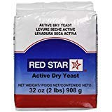 Red Star Active Dry Yeast, 2 Pound Pouch - PACK OF 6