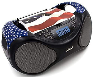 Akai CD/AM/FM Line in function AUX Portable Boombox CE2000-USA Limited Edition...