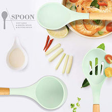 Load image into Gallery viewer, Silicone Kitchen Cooking Utensil Set, EAGMAK 16PCS Kitchen Utensils Spatula Set with Stainless Steel Stand for Nonstick Cookware, BPA Free Non Toxic Cooking Utensils, Kitchen Tools Gift (Mint Green)