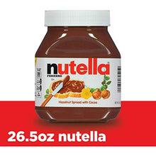 Load image into Gallery viewer, Nutella Chocolate Hazelnut Spread, Perfect Topping for Pancakes, 26.5 Ounce (Pack of 1) 10009800895257