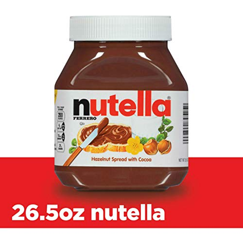 Nutella Chocolate Hazelnut Spread, Perfect Topping for Pancakes, 26.5 Ounce (Pack of 1) 10009800895257