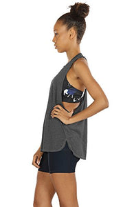 icyzone Workout Tank Tops for Women - Running Muscle Tank Sport Exercise Gym Yoga Tops Running Muscle Tanks(Pack of 3) (XS, Army/Charcoal/Pink) Tk16-A/C/P-XS X-Small