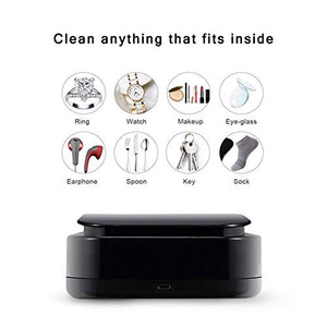 unbrand Phone UV Sanitizer, Portable UV Light Cell Phone Sterilizer Smartphone Cleaner Aromatherapy Function Disinfector for iPhone Android Moblie Phone Toothbrush Salon Tools Jewelry Watches-Black