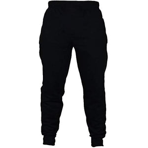 Vickyleb Mens Joggers Sweatpants Slim Fit,Athletics Men's Fleece Jogger Pants Active Zipper Pocket Sweatpants Black Small