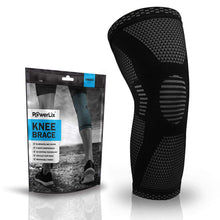 Load image into Gallery viewer, POWERLIX Knee Compression Sleeve - Best Knee Brace for Men & Women – Knee Support for Running, Basketball, Weightlifting, Gym, Workout, Sports – Please Check Sizing Chart