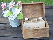 Load image into Gallery viewer, Country Barn Babe Personalized Recipe Card Box - Personalized Gift - Rustic Home Decor - Recipe Holder - Recipe Box - Recipe Card Box Early Amerian