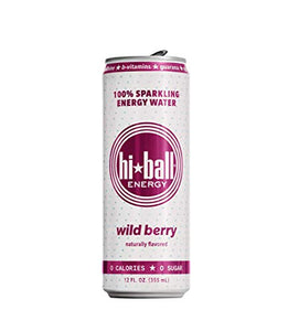 Hiball Energy Wild Berry Sparkling Energy Water, Zero Sugar and Zero Calorie Energy Drink, 12 Fluid Ounce Cans, Pack of 12 12 Fl Oz (Pack of 12)