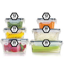 Load image into Gallery viewer, Fullstar Airtight Food Storage Containers with Lids - Plastic Food Containers with Lids - Plastic Containers with Lids - Lunch Containers [ 6 Pack] Kitchen Storage Containers with Lids BPA-Free