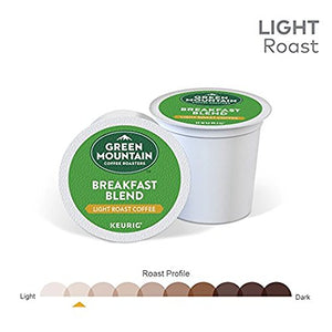 Green Mountain Coffee Roasters Breakfast Blend Flavor Coffee M1, Keurig Single-Serve K-Cup Pods, Light Roast, 144 Count