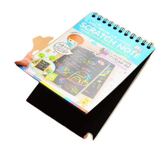 Scratch Note Children's Creative DIY Scratch Painting Colorful Graffiti Notebook Creative DIY Environmental Friendly Puzzle Y050