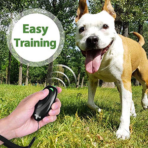 MODUS Ultrasonic Bark Control Device, Anti Barking DeviceDog Training Aid 2 in 1 Control Range of 16.4 Ft W/Anti-Static Wrist Strap LED Indicate Walk a Dog Outdoor M-230 Black