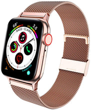 Load image into Gallery viewer, Cocos Compatible with Apple Watch Band 38mm 40mm 42mm 44mm,Stainless Steel Mesh Loop for iWatch Bands Women Men Series 5 4 3 2 1