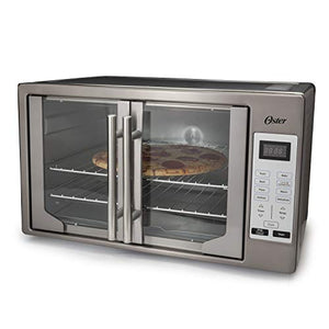 Oster TSSTTVFDDG-DS Black Stainless Steel Collection French Door Oven, Extra Large
