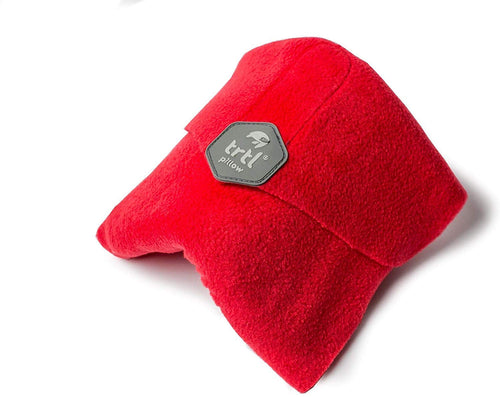 trtl Pillow - Scientifically Proven Super Soft Neck Support Travel Pillow – Machine Washable (Red)