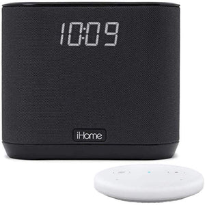 iHome iAV2v2 speaker and alarm clock bundle with Echo Input - White