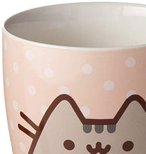 Load image into Gallery viewer, Enesco Pusheen by Our Name is Mud Polkadot Coffee Mug, 12 oz., Pink (4049392) 12 Ounces