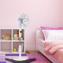 Load image into Gallery viewer, PELONIS PFS40D8AWW Silent Turbo Standing Adjustable Fan, Powerful Quiet Speed, 12 Hour On/Off Timer, 3 Modes, with Remote Control, 16 inch, 16-inch DC Motor Pedestal 2020 New Model