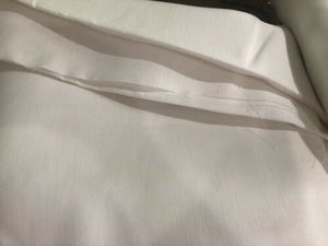 "Pratesi Italy New 100% Linen Fabric Piece 106""x108"" White Projects Sawing"