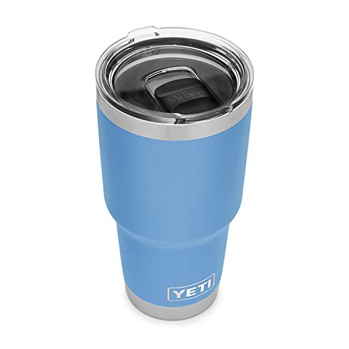 YETI Rambler 30 oz Tumbler, Stainless Steel, Vacuum Insulated with MagSlider Lid, Pacific Blue 1 Count