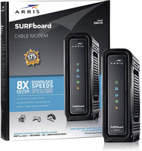 Load image into Gallery viewer, ARRIS SURFboard (8x4) DOCSIS 3.0 Cable Modem, approved for Cox, Spectrum, Xfinity & more (SB6141 Black)