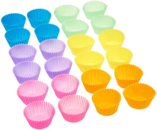 Load image into Gallery viewer, Basics Reusable Silicone Baking Cups, Muffin and Cupcake, Pack of 24
