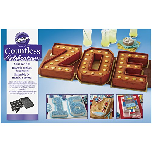 Wilton Countless Celebrations Set, 10-Piece Letter and Number cake pan, STD 2105-0801