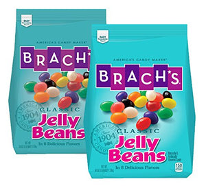 Brach's Classic Jelly Beans, Assorted Flavors, 3.38 Pound Bulk Candy Bag, Pack of 2 54 Ounce (Pack of 2)
