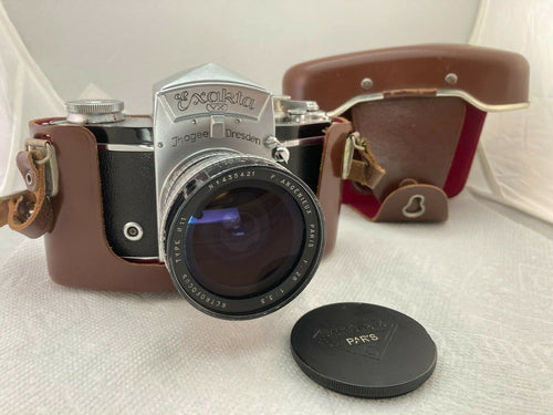 Exakta VX w/ RARE P. Angenieux Retrofocus 28mm f3.5 Type R11 lens & leather case
