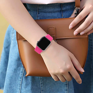 YANCH Compatible with for Apple Watch Band 38mm 42mm 40mm 44mm, Soft Silicone Sport Band Replacement Wrist Strap Compatible with for iWatch Series 4/3/2/1, Nike+,Sport,Edition